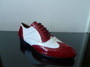 RICCARDO WHITE AND RED PATENT